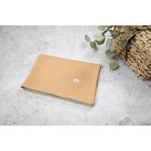Muszlin takaró (dupla) - Mustár/zöld