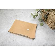 Muszlin takaró (dupla) - Mustár/kék