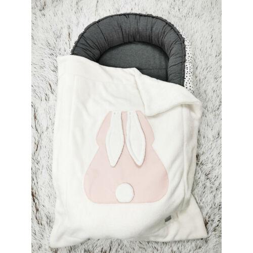 Pihe-puha nyuszis takaró - rózsaszín