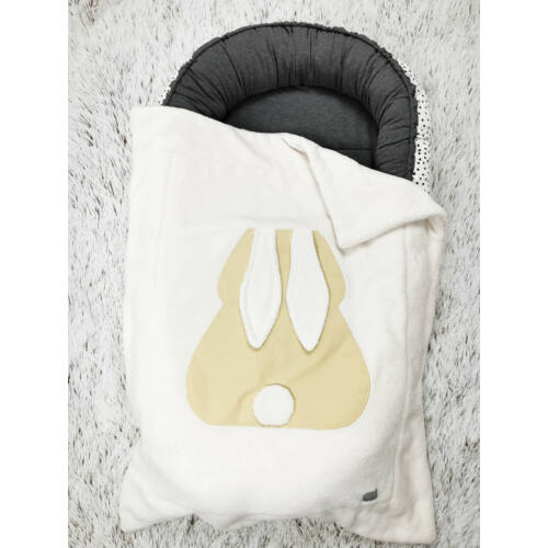 Pihe-puha nyuszis takaró - pasztell sárga