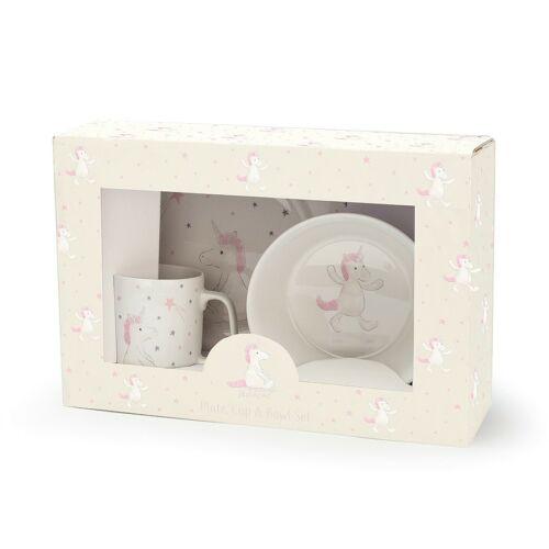 Porcelán étkészlet- unikornisos
