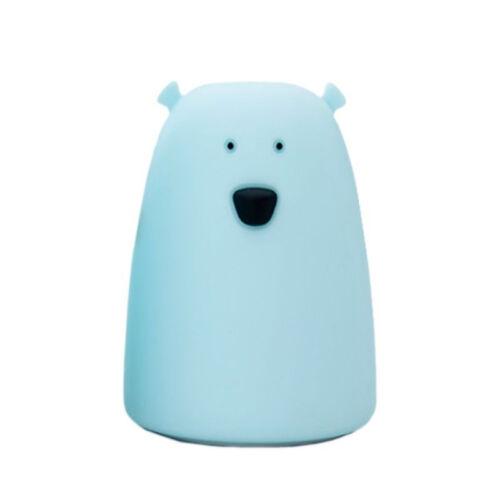 Medve szilikon lámpa - kék