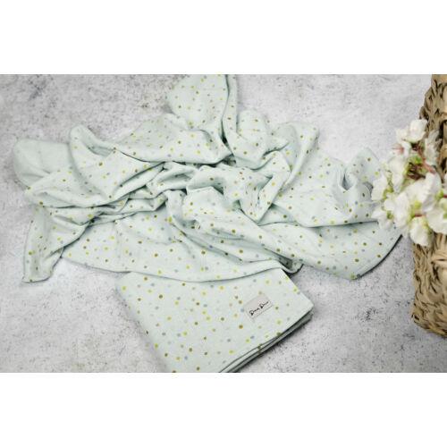 Muszlin takaró (szimpla) - zöld - 2db