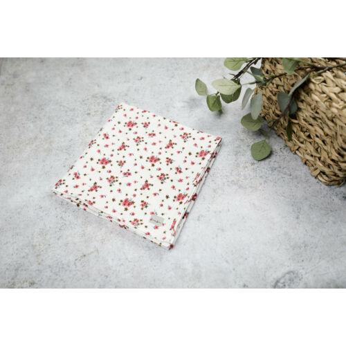 Muszlin takaró (Szimpla) - Apró virágos (mályva)