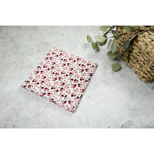 Muszlin takaró (Szimpla) - Apró virágos (rózsazsín)