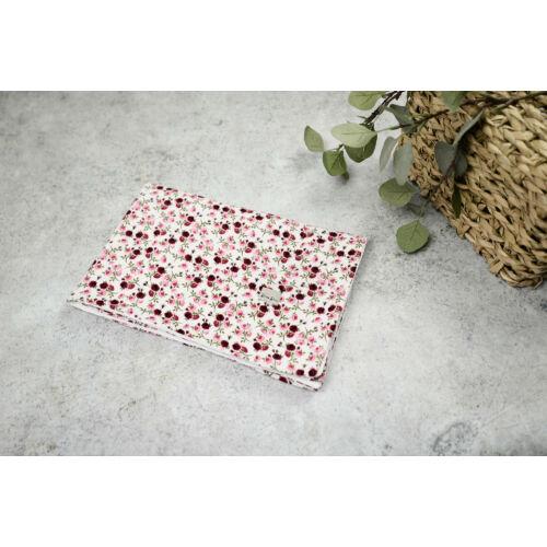 Muszlin takaró (dupla) - Apró virágos (rózsaszín)