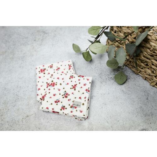 Muszlin takaró (szimpla/2db) - Apró virágos (mályva)